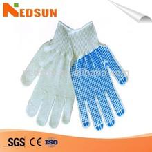 Anti slip dots white cotton liner palm fit gloves