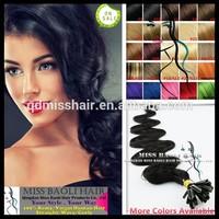 2015 Trendy Styles Qingdao Miss Baoli Factory Price Tangling Shedding Free 100% Remy Human Hair Keratin Pre Bonded Flat Tip Hair