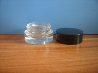3ml clear glass jar with plastic lid for eye shadow