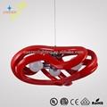 Gz50009-3 moderne kronleuchter rot einfacher lampenwechsel möbel innen wohnzimmer dekorative leuchten