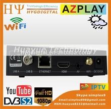 Original AZPLAY receptor de TV por satélite full HD decodificador del Openbox V5S modelo de actualización Original de Openbox x3 HD