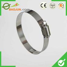 De China de acero inoxidable manguera abrazadera de sujetador ventas calientes
