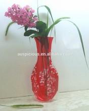 Bulk Sale Popular Clear Home Decorative Flower PVC Vase