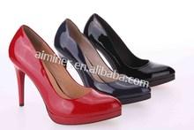 sexy office ladies pump shoes /genuine leather ladies pump shoes