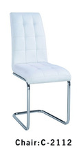 Home Furnishings Casual Shiny Chrome finish Dining Chair