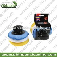 car round wax and polish applicator pad