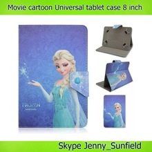 movie character cartoon print super slim leather Universal tablet case 8 inch
