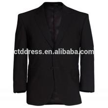 2015 lã de alta qualidade tecido formal ocasião dois pedaços de dois botões de ajuste fino do escritório de projetos uniforme para os homens