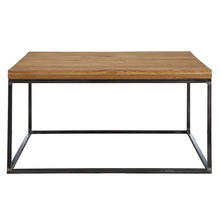 retro metal base table vintage wood top coffee table with metal leg