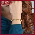 Kisvi 925 de plata de la joyería de venta al por mayor de la aleación pulsera del oro 18 k, Hombre pulsera de cobre