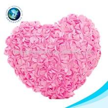 2015 Custom pink plush red heart pillow flower cushion soft stuffed 3D rose pillow