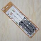 3pcs fruit kitchen knife set with blister packing