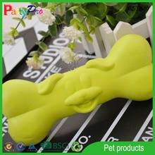 2015 Yellow Funny Dog Face Plastic Dog Bone Toy Dog Chew Toy