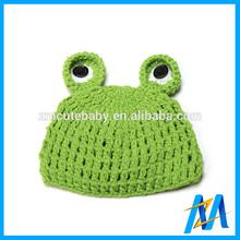Best Selling Cute Frog Knitted Hat Wholesale Winter Hats Green Frog Crochet Boy Girl Knit Hats