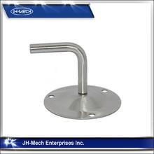 Railing round bar stainless steel glass brackets
