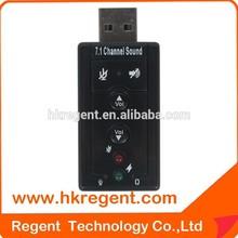 Hot sell USB Virtual 7.1 creative usb sound card