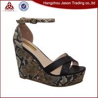 Latest design superior quality ladies flat high heel sandal