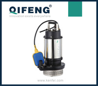 Stainless steel centrifugal submersible pump with float (QDX)