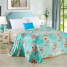 100% Polyester Organic Plain Print Pattern Thick Flannel Fleece Blanket, Best Gift