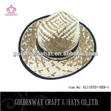 natural straw hat summer wholesale cowboy hats