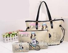 New arrival female antique multi pocket tote bag