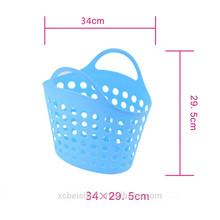 wholesale mesh with handle laundry plastic bathroom basket