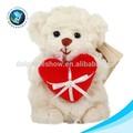 2015 corazón rojo el día de san valentín de regalo de peluche suave para los nombres de un oso de peluche