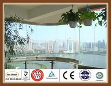 PSB popular frameless folding window from China mainland