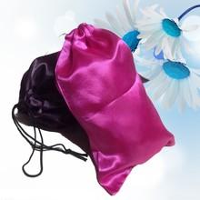 Silk Drawstring Hair Extension Packing Bag