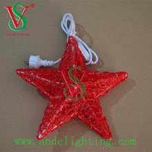 2015 Christmas lights LED 3D star motif light holiday lighting