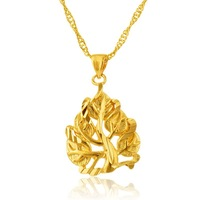 2015 yiwu fashion 24k gold christmas tree charm pendant gold pendants best friend forever pendant wholesale