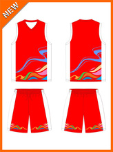 Sell well in cities pretty sublimation basketball training jersey