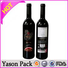 Yason rectangle epoxy stickers labels self adhesive metal drink bottle label sticker printing