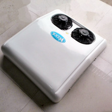 Portable 12V DC battery powered electric air conditioner for trucks, tractor cab, trailers, RV, caravan