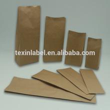 food grade stand up zipper top kraft paper bag for bread