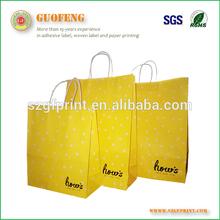 2015 printed custom Made Shopping Paper bag