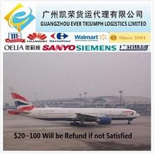 Air Shipping From Guangzhou/Shenzhen/Dongguan China to France Germany UK