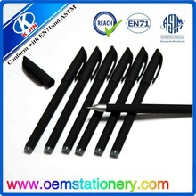 plastic black ball pen /14cm gel pen