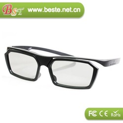 3d movie and 3d tv plastic polarized 3d glasses real d