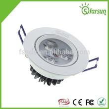 international certificate cheap price durable 3w ceiling light frame