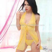 new style lace chiffon erotic dress sex night dress China OEM lingerie 8136#
