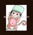 il top del design divertenti del fumetto naughty monkey pelle sicuro tatuaggi temporanei