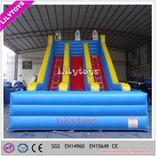 EN14960 0.55mm plato pvc the hulk adult inflatable double lane slip slide
