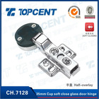 35mm cup soft close nickel finish concealed hinge for glass door