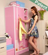 Waterproof good price bedroom furniture wardrobe storage, DIY high-grade colorful plastic assemble wardrobe closet
