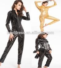 NEW SEXY PVC LEATHER LOOK CATSUIT CLUBWEAR COSTUME DRESS BONDAGE