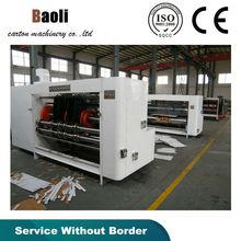 high quality automatic vaccum type slotting /slice the corner /press the line corrugated cardboard machine