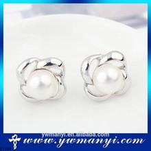 Wholesale high quality fashion rhinestone pearl earrings jewelry description