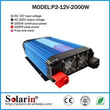 High quality CE ROHS solar dc ac 50hz 2kw pwm 12v 220v 200w inverters