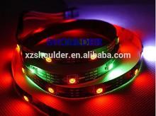 Cheap but high brightness DC 5v wheel led strip light, ws2812b, non-waterproof, 10mm black pcb, 30leds/m, CE RoHs